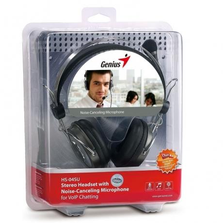 Genius HS-04SU Luxury Noise Cancelling 3.5mm Headset