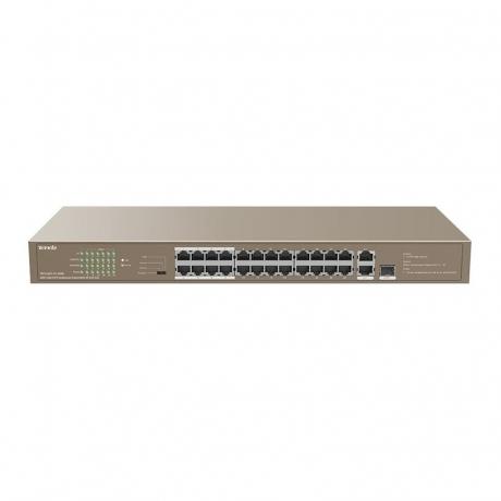 Tenda TEF1126P-24-250W / Switch / 24FE+2GE/1SFP Rackmount Switch With 24-Port PoE