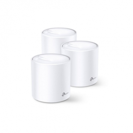 TP-LINK (DECO X20) Whole Home Mesh Wi-Fi 6 System, 3 Pack, Dual Band AX1800, OFDMA & MU-MIMO, One Unified Network