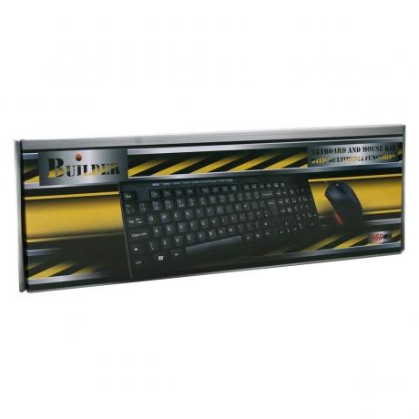 Builder keyboard Wired Kit (Multimedia Keyboard & Optical Mouse) USB - PC Builder